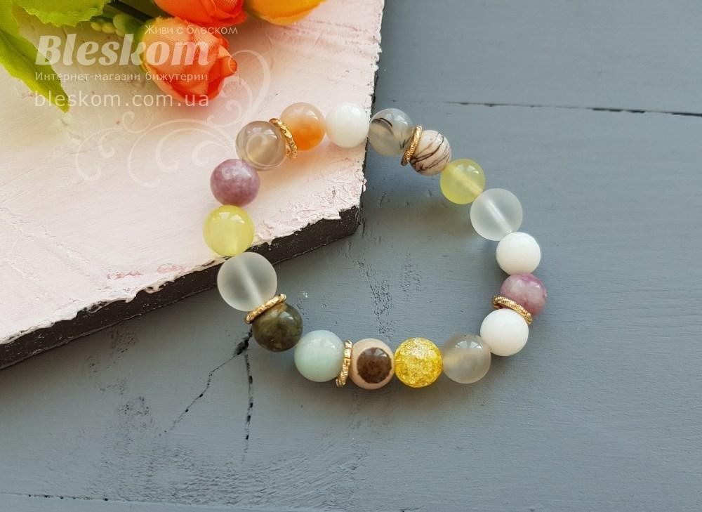 Фурнитура ювелирная для браслетов из натуральных камней